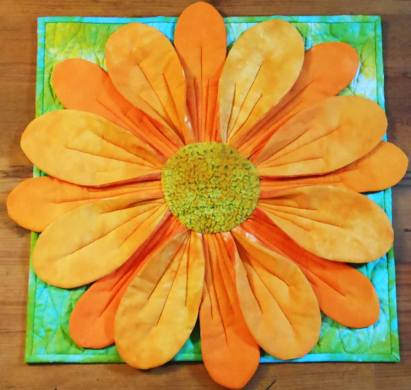 Ozark Quilt Retreat » 3-D Flower Art Quilt